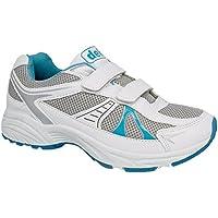 65c68c3237a1 Dek Womens Ladies White Blue Gym Sport Running Trainers 3 to 9