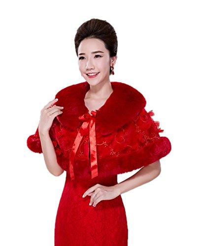 KA Beauty - Châle - Femme rouge 1