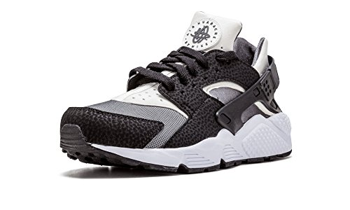 Nike Air Huarache, Chaussures de Running Entrainement Homme, Noir Noir (Noir / Blanc-Gris foncé)