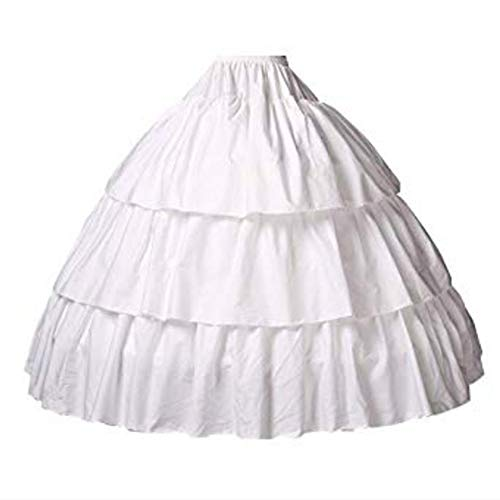 Reifrock Mädchen Petticoat Kinder 100% Baumwolle A Linie Lang Unterrock Ivory 2 3 4 Ringe Für...