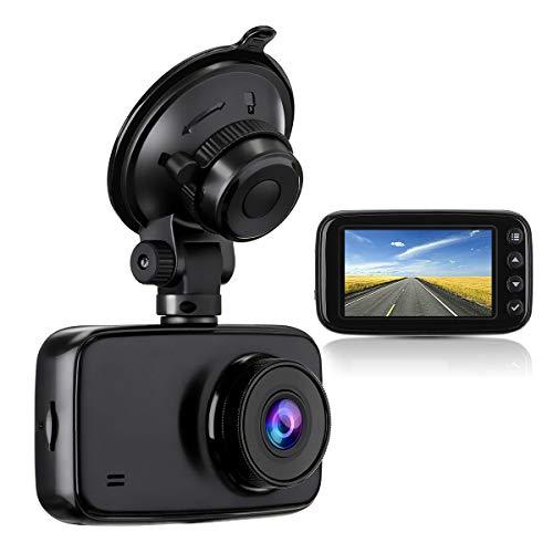 Audew Dashcam Autokamera 1080p Full HD DVR mit Nachtsicht 2.7 Zoll LCD-Bildschirm 170 ° Weitwinkel, G-Sensor, WDR, Parkmonitor, Loop-Aufnahme, Bewegungserkennung