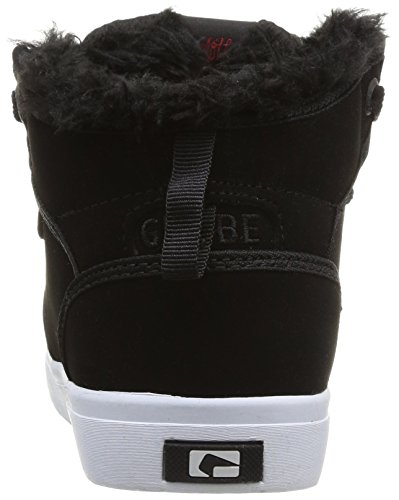 Globe Motley Mid, Baskets mode mixte enfant Noir (Black/Black Fur)