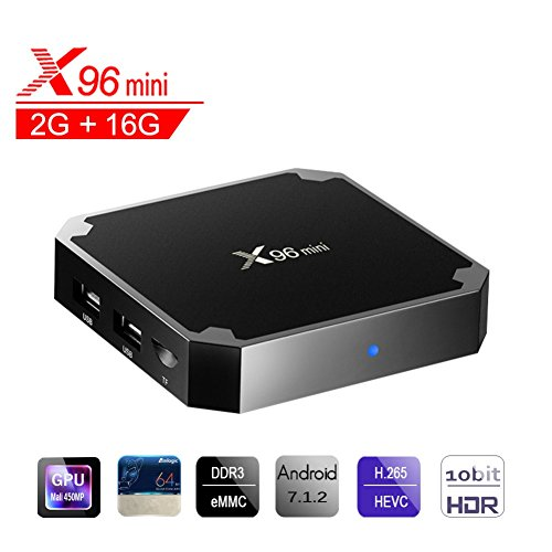 X96 Mini Smart TV Box Android 7.1, Wingogo 2GB 16GB Amlogic Quad Core 2.4Ghz WiFi 4K Smart Set Top Box