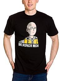 Camiseta de hombre de One Punch Man Saitama Fun negro algodón