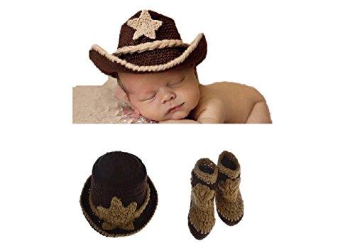 �dchen / Jungen häkeln stricken Kostüm Fotografie Prop Outfits (Cowboy) (Beste Cowboy-kostüm)