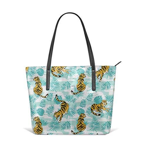 Dama Home Handtaschen für Frauen, Umhängetasche aus Leder von Cute Tigers, Messenger Bags von Totes Purses - Tiger Canvas Tote Bag