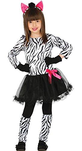 Guirca Süßes Zebra Kostüm für Mädchen Gr. 98-146, Größe:140/146