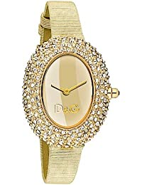 D&G Dolce&Gabbana Damen-Armbanduhr MUSIC LDY IPG STONES GOLD DIAL CHAMPAGNE DW0376