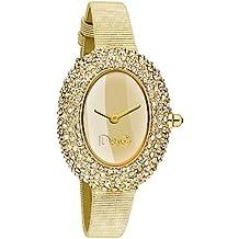 7fc46f442a1 Dolce Gabbana - DW0376 - Montre Femme - Quartz - Analogique - Bracelet Cuir  Doré