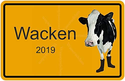 Sticker-Designs 45cm! Aufkleber-Folie Wetterfest Made IN Germany Kuh Gummistiefel Wacken Ortsschild 2019 W32-UV&Waschanlagenfest-Auto-Vinyl-Sticker Decal Profi Qualität bunt farbig Digital-Schnitt!