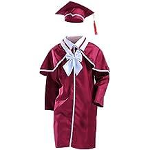 Amosfun Traje de graduación Infantil, Traje de Fiesta, Traje de doctorado, 150 cm