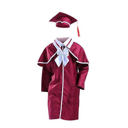 Amosfun Graduation Robe Abschluss Robe Akademischer Talar für Kinder Party Doktor Kostüm Zubehör 120cm - Doktor Kostüm Zubehör