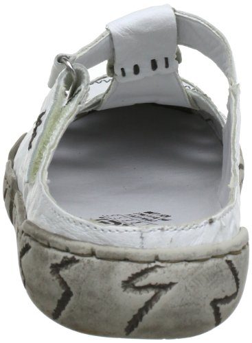 Rieker L0396-80, Sabot donna Bianco (Weiss)