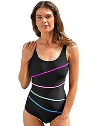 maillot de bain femme 1 piece amincissant maillot de bain femmes (L, Bleu)