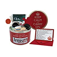 Keep Calm & Carry On Survival Kit In A Can - Fun Gift For Festival, Camping, Travel/Travelling, School/Exams, Sport, Golf/Fishing, DIY, New Mum/Dad/Parents, New Home/Moving Present & Card Gift Set 30