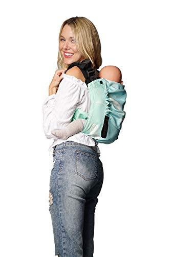 Babytrage: KOKADI® Onbu Federn Sky (XL) ✓ Neugeborene & Kleinkinder ✓ Ergonomisch ✓ Steg verstellbar ✓ Bio-Baumwolle ✓ 9-30kg ✓ GRATIS Beutel