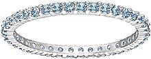 Swarovski–Anillo de mujer rodio cristal azul–51_ cristales