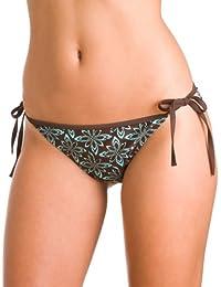 47e06a640e02c Camille Womens Ladies African Floral Print Swimwear Tie Side Bikini Bottoms