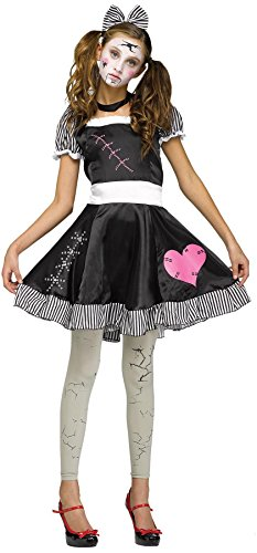 Broken Doll Kind Kostüm - Fun World Teenager's Broken Doll Costume,