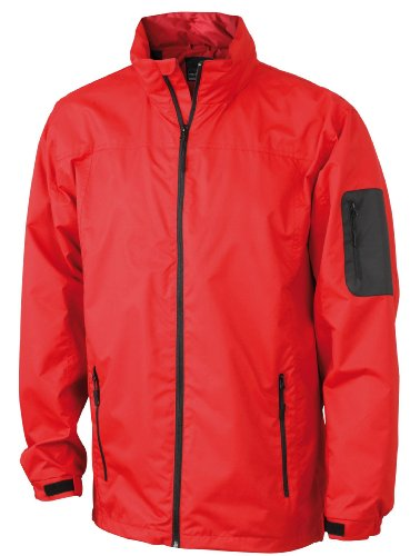 Sportliche, funktionelle Herren Outdoor-Jacke Red/Black