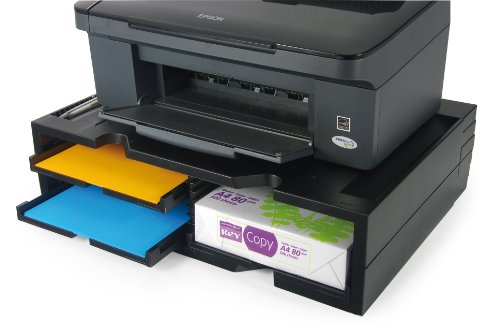 Exponent 42807 supporto per stampanti, 508 x 370 x 140 mm, nero