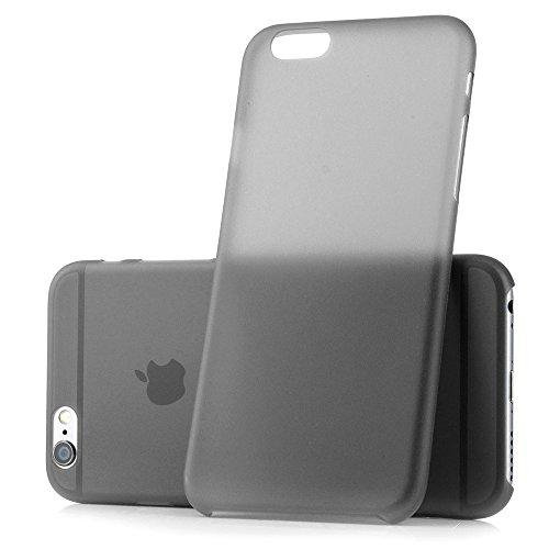 """iPhone 6 / 6s (4,7 Zoll) Schutzhülle """"Ultra thin"""" - Ultra dünnes Case weiß aus Polypropylen - transparente Hülle von MC24® für iphone6s schwarz"""