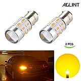 GLINT 1156 BA15S P21W Lampadine a LED Estremamente Luminose Lampadine a LED 24SMD 5630 LED 7506 1095 Lampadine a LED per Segnale di Svolta Luce Ambra (2 Pezzi)
