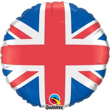 runder Folienballon mit dem Motiv * Flagge Großbritannien * für eine Mottoparty // Union Jack England Great Britain englisch english Fahne London Motto Deko Jungen Sprache EU