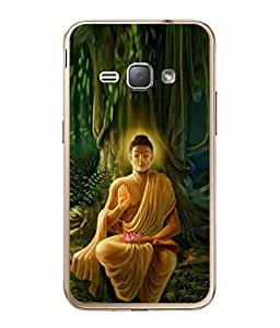 PrintVisa Lord Buddha High Gloss Designer Back Case Cover for Samsung Galaxy J1 (6) 2016 :: Samsung Galaxy J1 2016 Duos :: Samsung Galaxy J1 2016 J120F :: Samsung Galaxy Express 3 J120A :: Samsung Galaxy J1 2016 J120H J120M J120M J120T