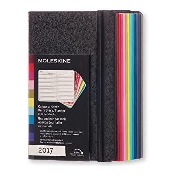 2017 Moleskine 'Colour a Month' Daily Diary 12 Month Soft