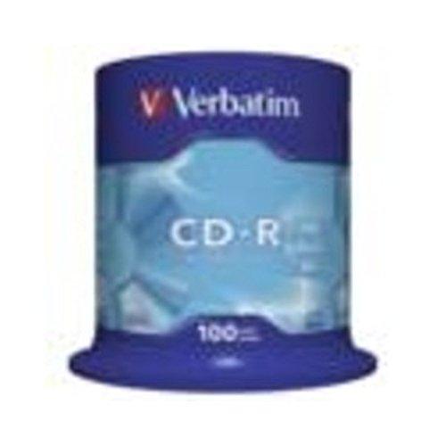 Verbatim CDR Rohlinge 700MB 80Min 52fach Spindel Packung mit 1