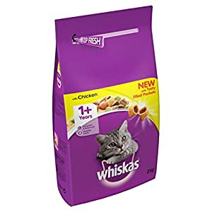 Whiskas Chicken Dry Mix 2kg (Pack of 4, Total 8kg)