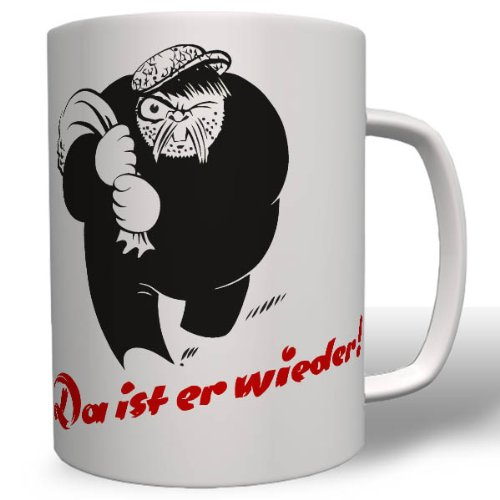 Kohlenklau Karikatur Figur Zeichnung Wk Energie Brennstoffe Dieb Werbeaktion Tigerfibel - Tasse Kaffee Becher #16734