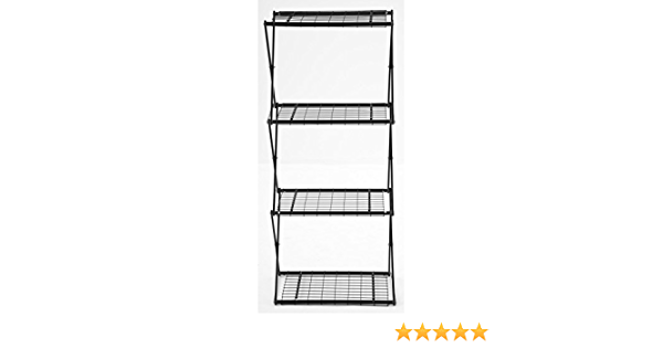 Flower House Exy EXY40B 4-Tier Shelving System Black