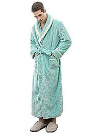 d4a26251fa BCL-Pajamas Men Luxury Dressing Gown Fluffy Bathrobe Woman Nightwear  Loungewear Bath Towel Full Length (Color…