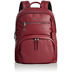 Tumi Voyageur Hagen Leather Backpack Mochila Tipo Casual, 36 cm, Rojo (Brick)