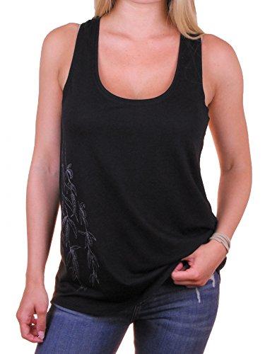 Fairwear Bambus Tanktop Women Schwarz Weidenast Aus Viskose Aus Bambus und Biobaumwolle von Life-Tree Größe M (Fruchtbarkeit Shirts)