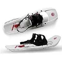 ATTRAC POWRX Schneeschuh Kunststoff mit Steighilfen | Belastbar bis 110 kg | RUTSCHSICHER Doppelte Ratschenbindung