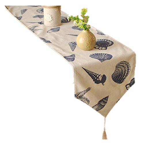 ZQG® Tischläufer Europäische Top-Grade gedruckte Striped Home Textile Tischdecken Leinen Tischdecke 30*220cm (Rose Scrub Tops)