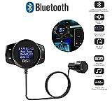 Amyove Equipo inalámbrico Bluetooth para automóvil Kit de Coche LCD SD Transmisor de FM Reproductor de MP3 Imán sin Manos