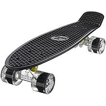 Ridge Retro 22 - Skateboard, color negro y transparente, 55 cm (22'')