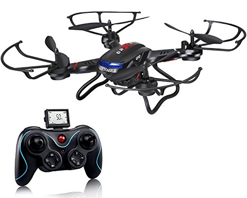 Holy Stone F181 RC Quadrocopter Drohne mit HD Kamera RTF helikopter hubschrauber 4 Channel 2.4GHz 6-Axis Gyro Stabilization System Quadrocopter ferngesteuert mit camera, automatische höhe halten, One Key Start/Laung, 360° Looping, Headless-System,4GB Speicherkarte für Kinder und Anfänger, schwarz (Aktualisierung mit Höhe Halten Funktion)