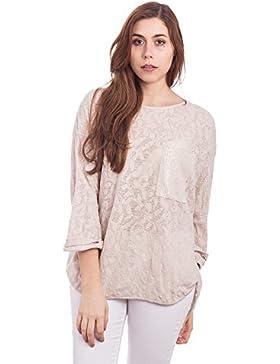 [Patrocinado]Abbino 907-05 Camisas Blusas Tops para Mujer - Hecho en ITALIA - 3 Colores - Verano Otoño Invierno Elegantes Formales...