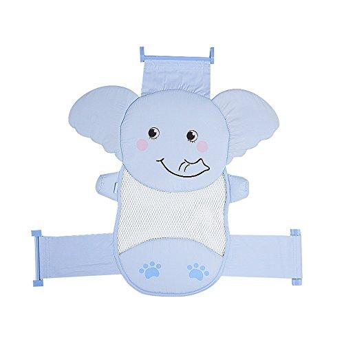 Neugeborenes Baby Pulver (Badenetz/Baby Dusche Net/Net Tasche/Neugeborenen wanne Halterung/Rutschfeste Bad Bett/Pulver/Blau (Farbe : Blue))