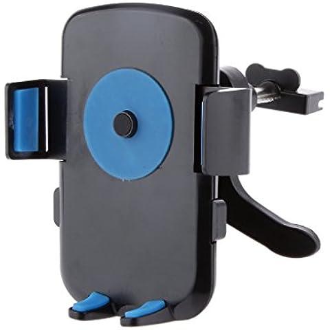 Soportes de Teléfono Móvil para Coches Rejilla de Aire Universal para iPhone Samsung HTC NOKIA SONY GPS Dispositivo - Azul