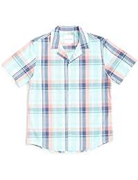d365d5aa74 The Idle Man Retro Plaid Madras Revere Collar Shirt Green