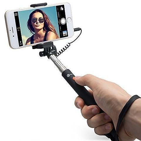 Perche de Selfie Bluetooth Monopode extensible de poche Noir Pour Wiko Lenny 2 4G