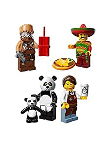 Lego Movie 71004 Minfigures: Set of 4:Taco,Larry,Wiley & Panda