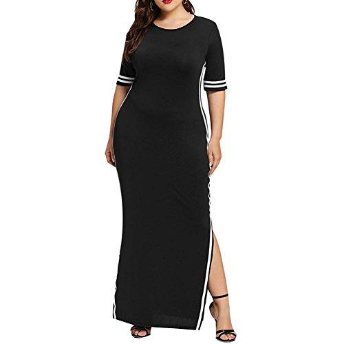 Damen Kleider, Kanpola Frauen Elegant 3/4 Ärmel T-Shirt Midi Kleid Lange Großen Größen...