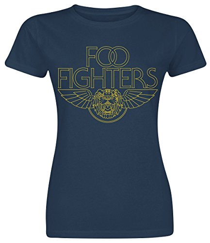 Foo fighters tiger wings maglia donna blu navy m